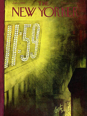 New Years Eve Painting - New Yorker January 1st, 1955 by Arthur Getz