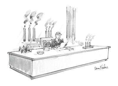 New Yorker January 20th, 1986 Art Print by Dana Fradon