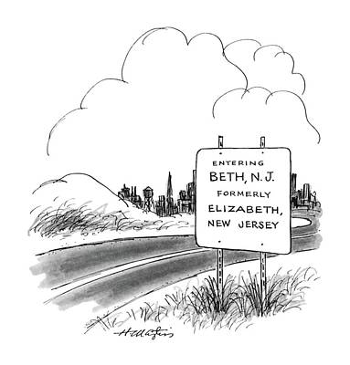 Beth Drawing - New Yorker January 20th, 1986 by Henry Martin