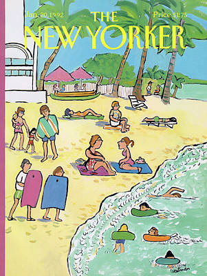Painting - New Yorker January 20th, 1992 by Barbara Westman
