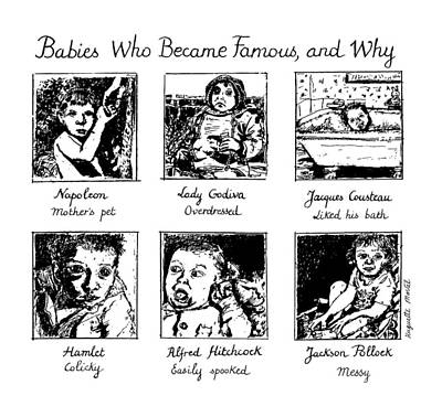 Babies Drawing - New Yorker January 20th, 1992 by Huguette Marte
