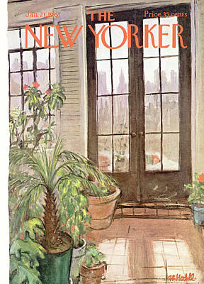 Architecture Painting - New Yorker January 21st, 1967 by Frank Modell