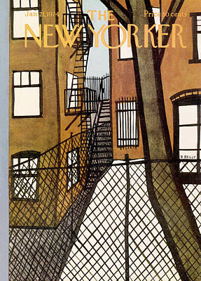 Tenement Painting - New Yorker January 21st, 1974 by Donald Reilly