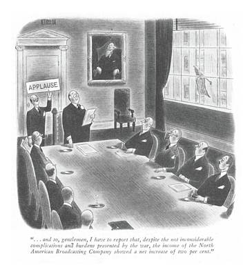 Applause Drawing - New Yorker January 22nd, 1944 by Richard Taylor