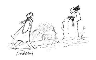 New Yorker January 22nd, 1996 Art Print by Mort Gerberg