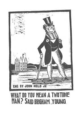 Brigham Drawing - New Yorker January 23rd, 1926 by Jr., John Held