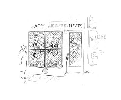 Store Fronts Drawing - New Yorker January 23rd, 1943 by  Alain