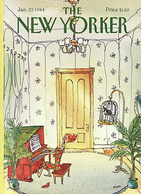 Cage Painting - New Yorker January 23rd, 1984 by George Booth