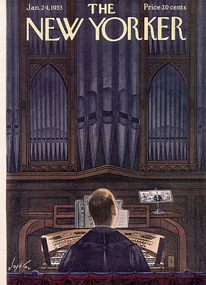 New Yorker January 24th, 1953 Art Print by Constantin Alajalov