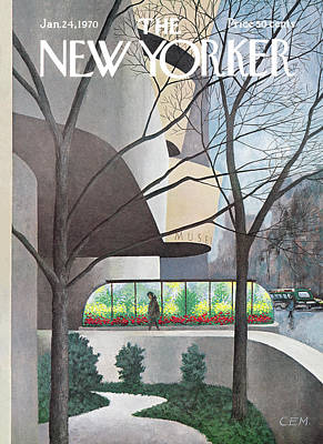 Architecture Painting - New Yorker January 24th, 1970 by Charles E Martin