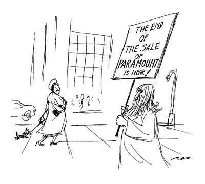 Bid Drawing - New Yorker January 24th, 1994 by Al Ross