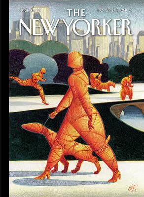 24th Painting - New Yorker January 24th, 2005 by Lorenzo Mattotti