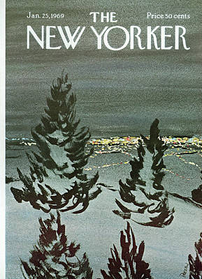 Winter Painting - New Yorker January 25th, 1969 by David Preston