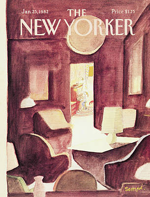 New Yorker January 25th, 1982 Art Print by Jean-Jacques Sempe