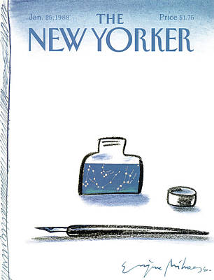 Write Painting - New Yorker January 25th, 1988 by Eugene Mihaesco