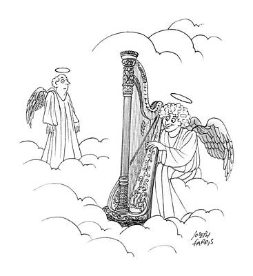 Angel Drawing - New Yorker January 25th, 1988 by Joseph Farris