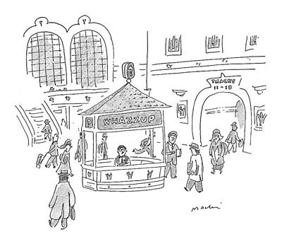 Information Drawing - New Yorker January 25th, 1999 by Michael Maslin