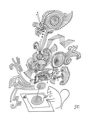 New Yorker January 26th, 1963 Art Print by Saul Steinberg