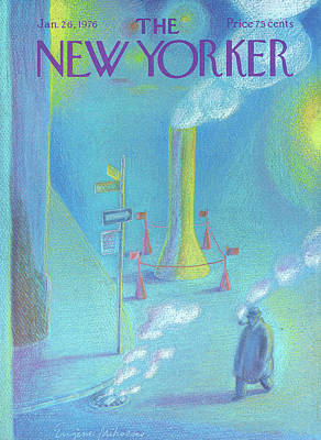 Exhaust Painting - New Yorker January 26th, 1976 by Eugene Mihaesco