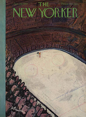 Fans Painting - New Yorker January 28th, 1950 by Abe Birnbaum