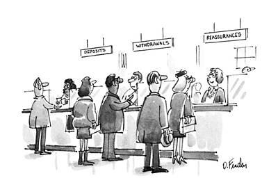 New Yorker January 28th, 1991 Art Print by Dana Fradon