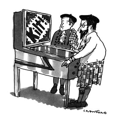 Europe Drawing - New Yorker January 28th, 1991 by Michael Crawford