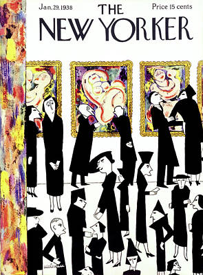Museums Painting - New Yorker January 29 1938 by Christina Malman