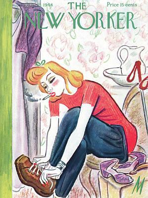 Footwear Painting - New Yorker January 29th, 1944 by Julian de Miskey