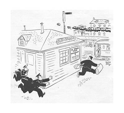 Action Drawing - New Yorker January 29th, 1944 by Robert J. Day