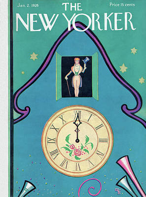New Years Eve Painting - New Yorker January 2nd, 1926 by Rea Irvin