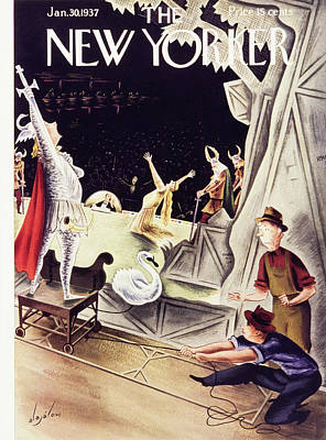 January 30th Painting - New Yorker January 30 1937 by Constantin Alajalov