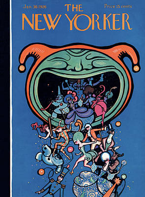Jester Painting - New Yorker January 30th, 1926 by Rea Irvin