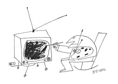 January 30th Drawing - New Yorker January 30th, 1960 by Saul Steinberg