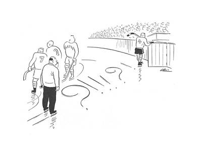 Skate Drawing - New Yorker January 31st, 1942 by  Alain