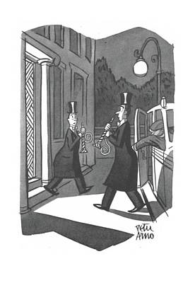 Drawing - New Yorker January 3rd, 1942 by Peter Arno