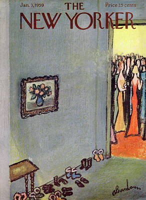 Abe Birnbaum Painting - New Yorker January 3rd, 1959 by Abe Birnbaum