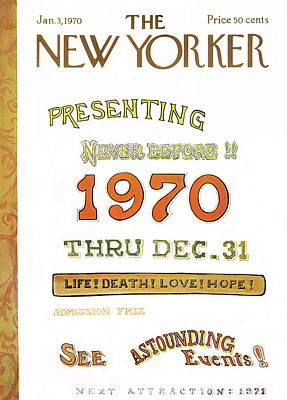 New Years Eve Painting - New Yorker January 3rd, 1970 by James Stevenson