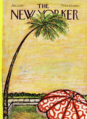 Abe Birnbaum Painting - New Yorker January 5th, 1957 by Abe Birnbaum