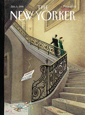 New Years Eve Painting - New Yorker January 5th, 1998 by Harry Bliss