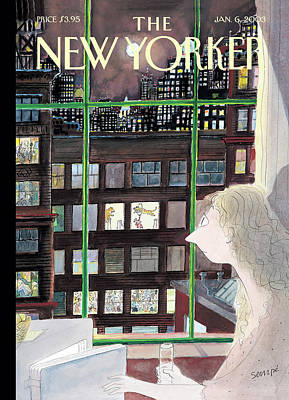 Painting - New Yorker January 6th, 2003 by Jean-Jacques Sempe