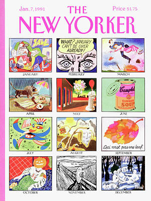Warhol Painting - New Yorker January 7th, 1991 by Kenneth Mahood