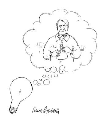 Edison Drawing - New Yorker January 7th, 1991 by Mort Gerberg