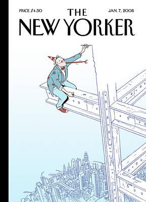 New Yorker January 7th, 2008 Art Print