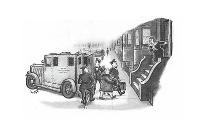 Law Enforcement Drawing - New Yorker January 8th, 1944 by Sydney Hoff