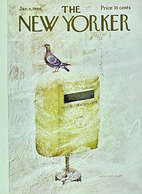 Winter Scene Painting - New Yorker January 8th 1966 by Laura Jean Allen