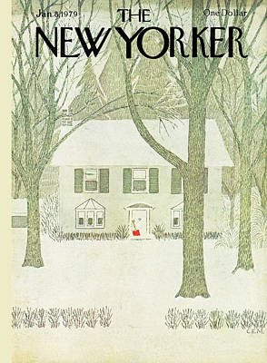 Winter Painting - New Yorker January 8th, 1979 by Charles E Martin