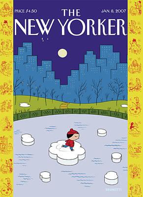 New Yorker January 8th, 2007 Art Print
