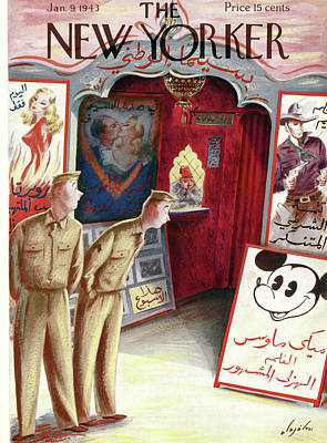 Disney Painting - New Yorker January 9th, 1943 by Constantin Alajalov