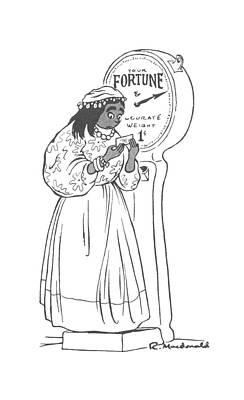 Gypsy Drawing - New Yorker January 9th, 1943 by Roberta Macdonald