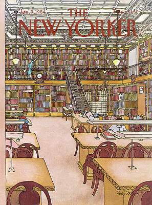 New Yorker January 9th, 1984 Art Print by Roxie Munro